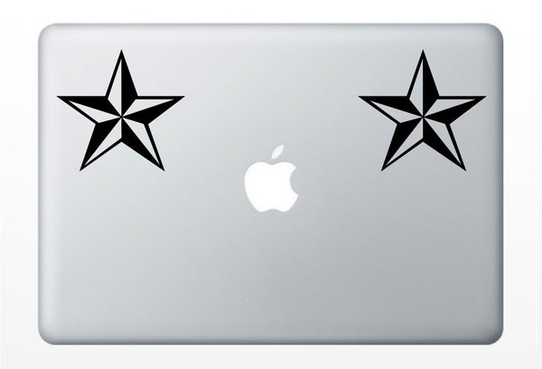 Nautical Star laptop DECAL- macbook iPad computer- vinyl sticker tattoo