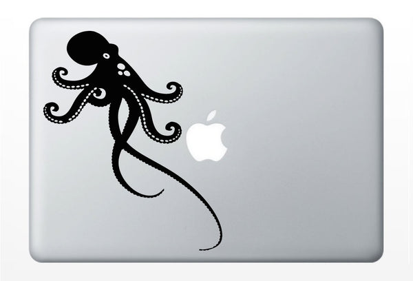 Octopus laptop DECAL- macbook iPad computer- vinyl sticker - ocean animal