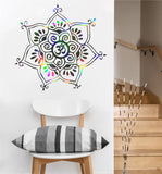 Om Flower Decal | Sacred Geometry Vinyl Wall Sticker