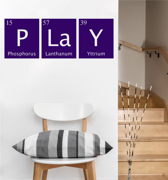 Play Periodic Table Decal | Vinyl Wall Sticker