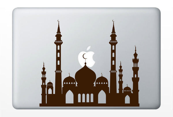 Middle Eastern Mosque laptop DECAL-Persian Moroccan Arabian Palace- macbook iPad - vinyl sticker