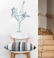 Martini Glass Pin Up Girl Decal | Vinyl Wall Sticker