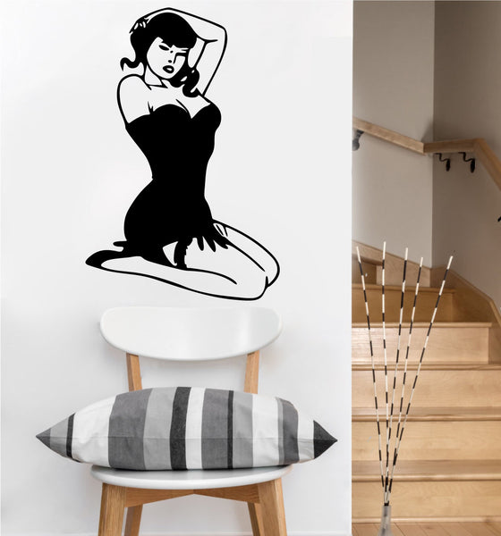 Pinup Girl Decal | Vinyl Wall Sticker