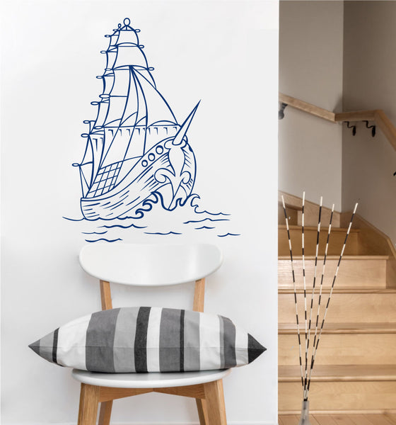Pirate Ship Decal | Vinyl Wall Sticker