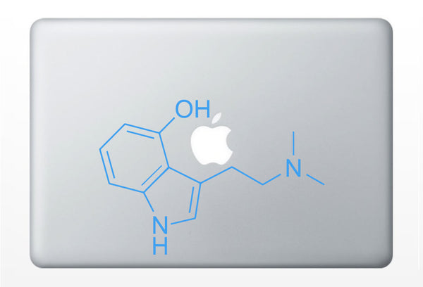Psilocybe Cubensis Compound Molecule laptop DECALS- macbook iPad computer- magic mushrooms, chemical structure- vinyl sticker
