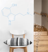 Serotonin Chemical Compound Decal | Wall Sticker