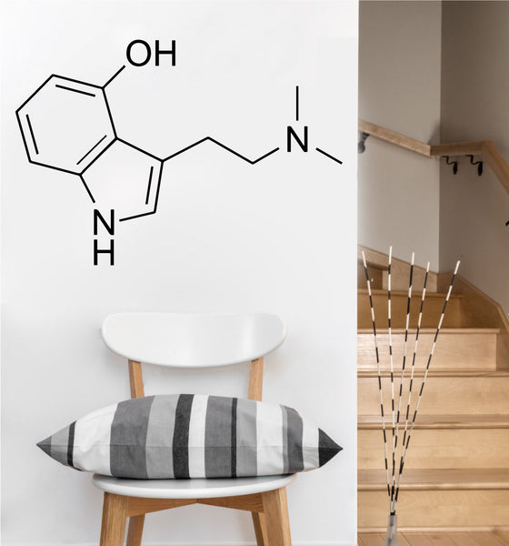 Psilocybe Molecule Decal | Vinyl Wall Sticker