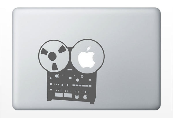 Reel to Reel, old school music DECAL- macbook iPad computer- vinyl sticker