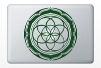 Seed of life with Petals laptop DECAL- macbook iPad computer- vinyl sticker - Sacred Geometry - Rainbow Holographic