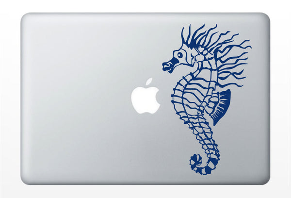 SeaHorse Real laptop DECAL- macbook iPad computer - ocean water sea horse animal