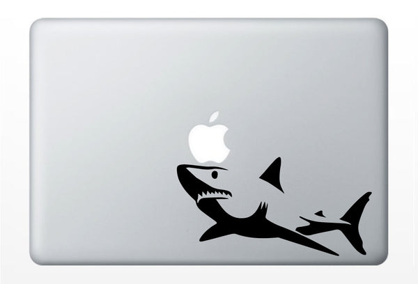 Great White Shark Silhouette Laptop Decal | Mac PC, Car, Computer iPad | vinyl sticker