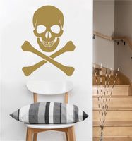 Skull and crossbones Decal | Wall Sticker