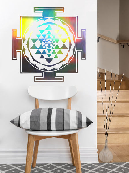Square Sri Yantra Decal | Sacred Geometry Vinyl Sticker