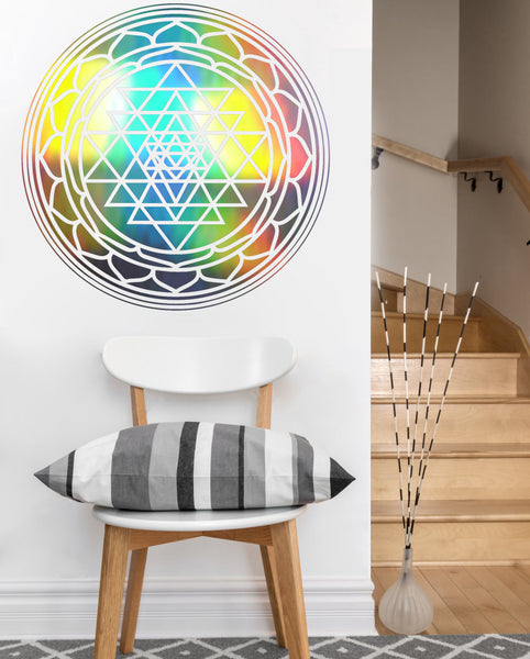 Circle Sri Yantra Decal | Vinyl Wall Sticker