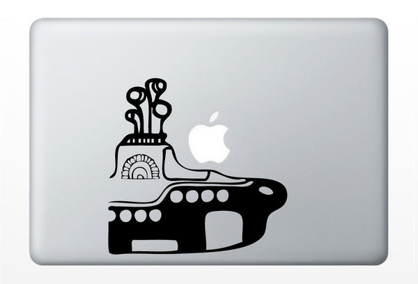 Yellow Submarine The Beatles laptop DECAL- macbook iPad computer- ocean vinyl sticker