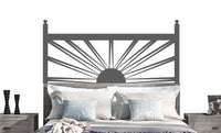 Sunrise Sunset Headboard Vinyl Wall Decal- sticker art, room, home decor Double Full Queen Bed