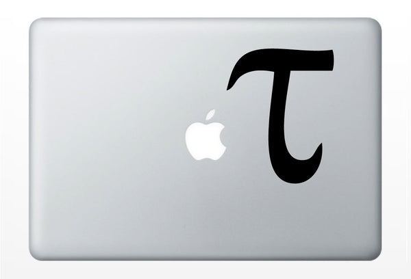 Tau math laptop DECAL- macbook iPad computer- vinyl sticker - pi day hipster nerd