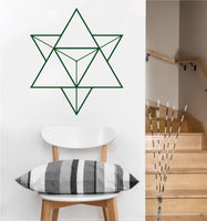 Tetrahedron Decal | Sacred Geometry Vinyl Sticker