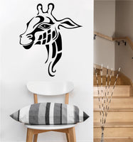 Tribal Giraffe Decal | Safari Animal | Vinyl Wall Sticker
