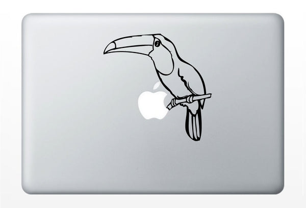 Toucan laptop DECAL- macbook iPad computer- vinyl sticker- Rain forest birds south america