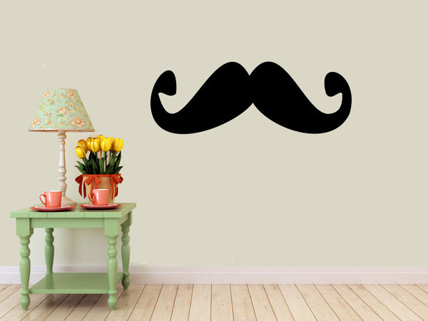 mustache Wall DECAL- interior design, kids rooms, sticker art, room, home and business decor