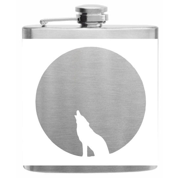 Howling Wolf Flask