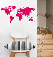 World Map Decal |Vinyl Wall Sticker