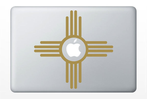 Zia Sun symbol DECAL- Native American macbook iPad computer- vinyl sticker