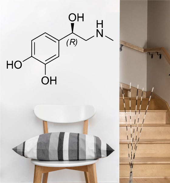 Adrenaline Chemical Compound Decal | Vinyl Wall Sticker