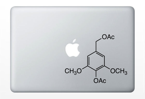 Alcohol Compound Molecule laptop DECALS- macbook iPad computer- chemical structure, turkey- vinyl sticker