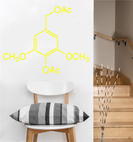 Alcohol Molecule Decal | Vinyl Wall Sticker