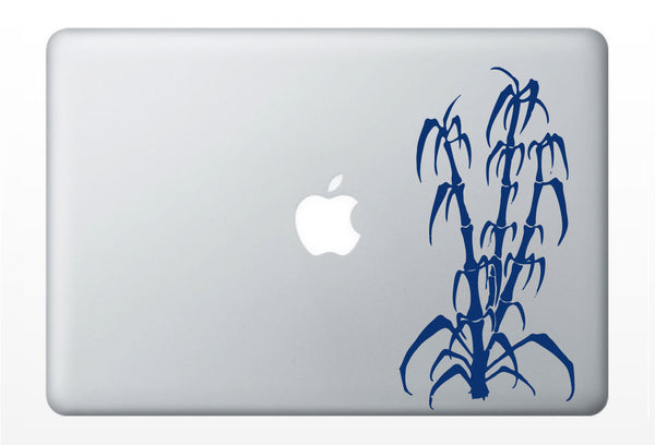 Bamboo apple moon laptop DECAL- macbook iPad computer - vinyl sticker