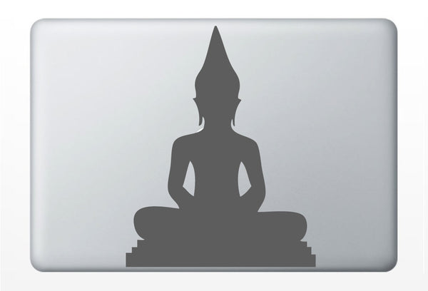 Buddha Silhouette laptop DECAL- macbook iPad computer- vinyl sticker