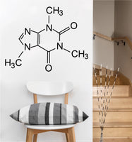 Caffeine Molecule Decal | Vinyl Wall Sticker