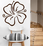 Hibiscus Flower Decal | Vinyl Wall Sticker