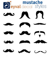 45 pack Chalkboard Mustache Vinyl Decals - 15 different styles - beer glass, wine glass, water bottle, coffee mug- multi pack