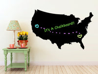 United States of America Map- Chalkboard Vinyl Wall Decal