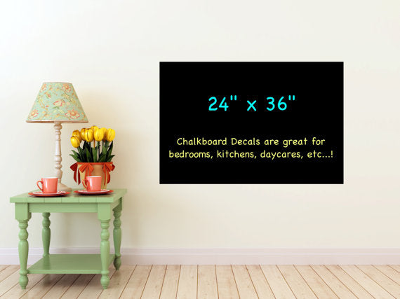 Large Chalkboard Vinyl Wall Decal - Rectangle -Many Sizes, 24 x 24, 24 x 36, 24 x 48