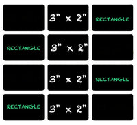 Rectangle Chalkboard Vinyl Labels | 3 x 2 inch | Dishwasher Safe