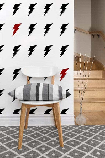 Lightning Bolt Decals | Vinyl Wall Pattern