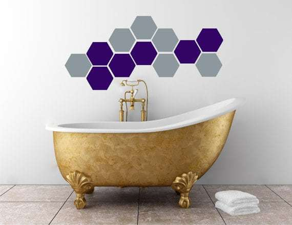 Hexagon Decals | Vinyl Wall Pattern