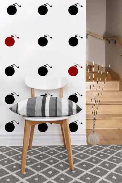 Bomb Decals | Vinyl Wall Pattern