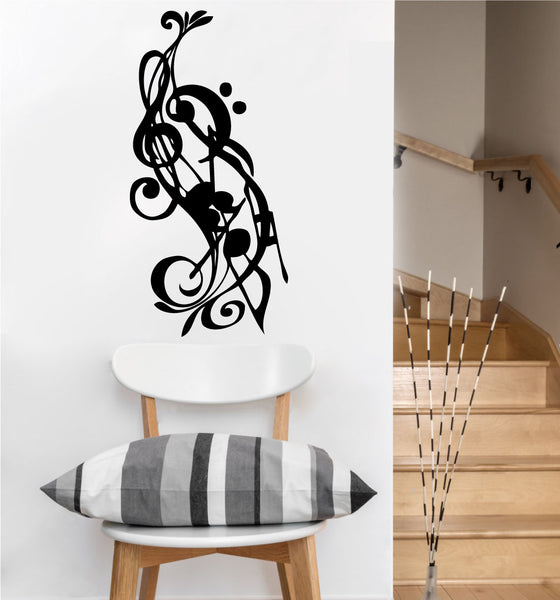 Music Notes Decal | Vinyl Wall Sticker