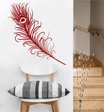Peacock Feather Decal | Vinyl Wall Sticker