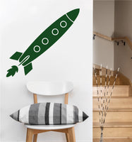 Rocket Ship Decal | Vinyl Wall Sticker