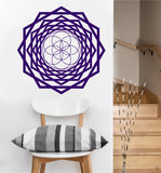 Seed of Life Tunnel Decal | Sacred Geometry Vinyl Sticker