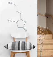 Whiskey Lactone Chemical Compound Decal | Wall Sticker