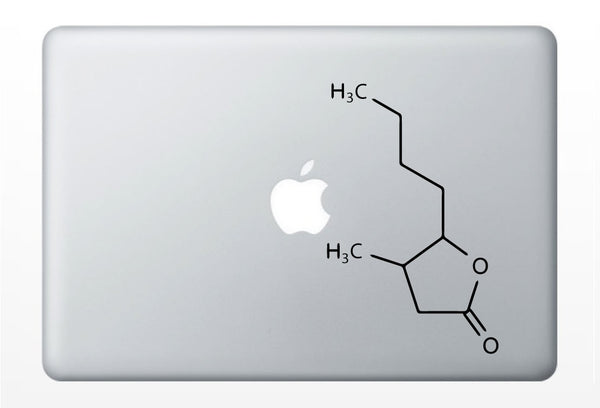 Whiskey Compound Molecule laptop DECALS- macbook iPad computer- chemical structure- alcohol
