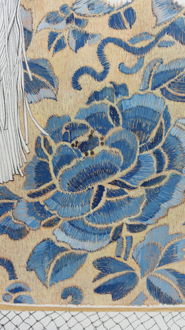 fragment of drawing close up guild embroidery diamond jubilee