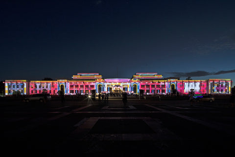 enlighten canberra moad old parliament house canberra udhr quilt project projection